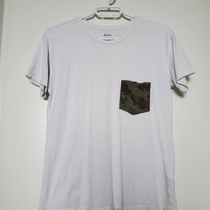 Roots Patterned Pocket Tee